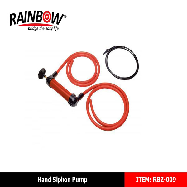 RBZ-009 Transfer Pump Hand Siphon MultiI-Function Gas Oil Water Fuel Petrol