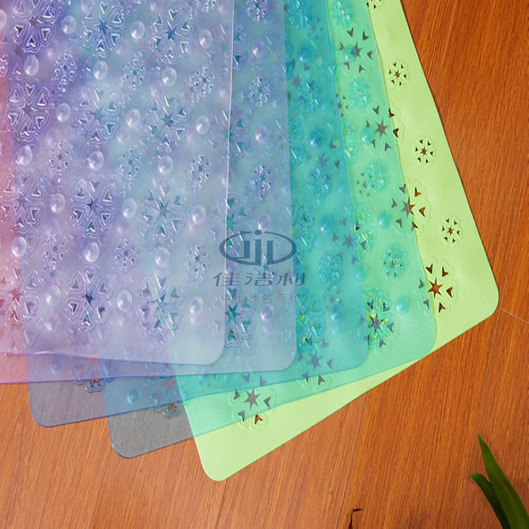 Factory direct sale personalized promotional pvc custom waterproof bath mat