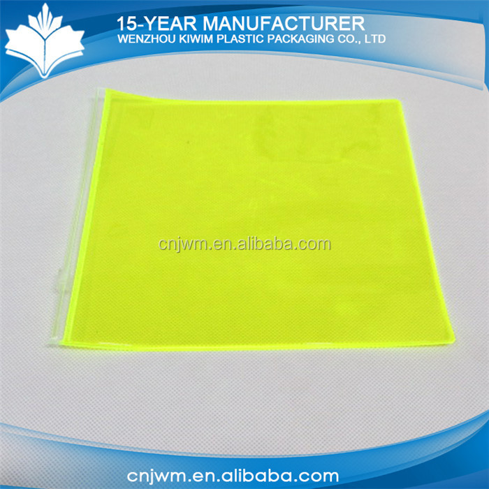 wholesale simple clear pvc slide zip lock plastic bag
