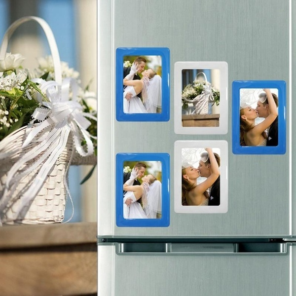 High Quality Durable Soft Rubber PVC Hanging Single Layer Photo Frame Fridge Magnet