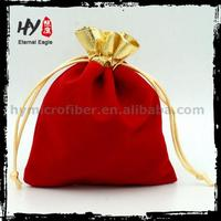 Customized color jewelry cotton pouch, tailor making jewellery bags, cheap cotton drawstring bag