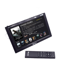 rechargeable mini color portable tv with radio