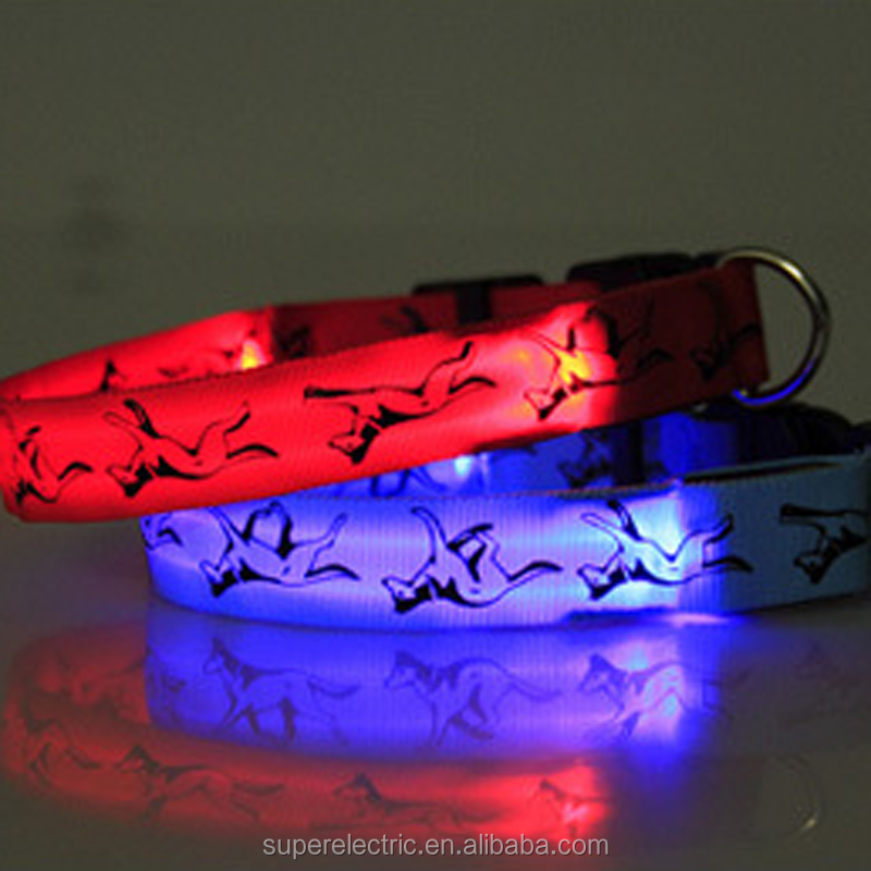 High quality eco-friendly flashing led pet collar new arrival led lead leash for dogs