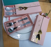 Hot!!Loving Hearts Stainless Spoon and fork 2pcs Set for Event Festive Supplies or Birthday Party Giveaways