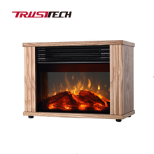 Decor Flame Electric Space Heater Fireplace with 2 Power Settings 750/1500W