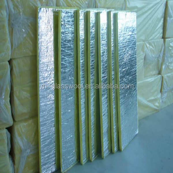 Fiberglass wool board glass wool insulation board for Glass fiber board insulation