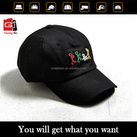 OEM Custom High Quality 6 Panel 3D Embroidery Black Dad Hat Polo Cap