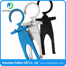 Customized OEM flexible hook silicone cell phone holder human shape hanger