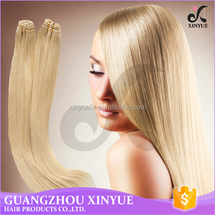 unprocessed european hair extension 613# color straight hair for fast shipping