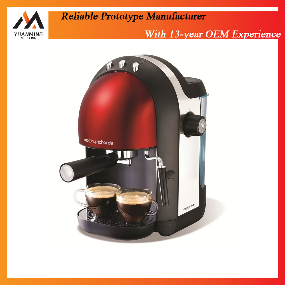 High quality low cost beautiful abs plastic coffee machine coffee maker rapid prototype