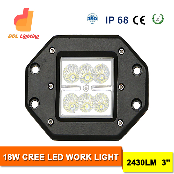 Guangzhou DDL Factory 18w off road light led work light for Vehicle,Atvs,Truck