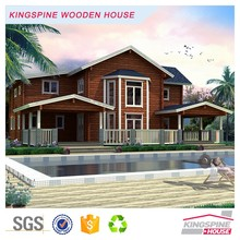 Prefabricated log cabin home kits wooden house low price KPL-043