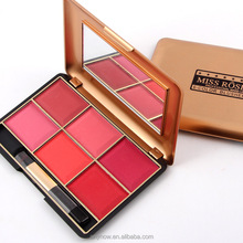 Hot sell foundation makeup eyeshadow palette 6 color blush