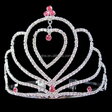 Wholesale Pageant Crowns tiara Valentine's day tiara bridal head crowns