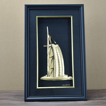 High Quality Burj Al Arab Pure Gold Foil Picture Frame For Decoration