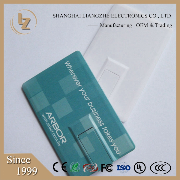 High Quality USB Pen Flash Drive 16GB Credit Card USB Memory Stick with Full Color Printing