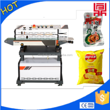 Low price continuous vacuum inflatable sealing machine for snack bag