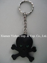 Fashion design custom shape plastic keyring
