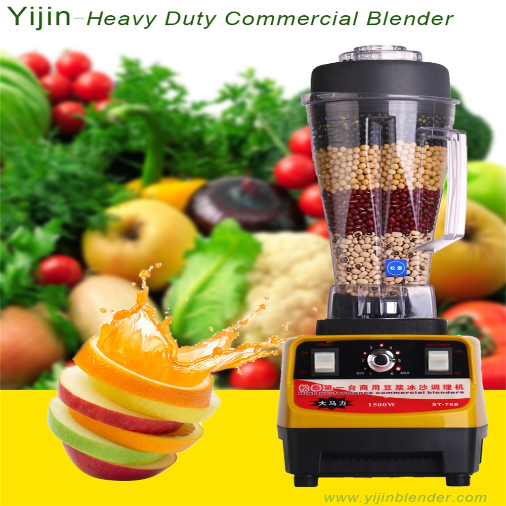 Home appliance multi color 1500w power commercial blender with CE certificate