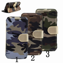 Camouflage Kickstand Case For iPhone 6 6S Plus 7 7 Plus Covers Flip Army Magnetic Leather Case With Wallet Card Slots