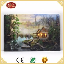 Forest landscape led canvas picture with led light , canvas led for painting