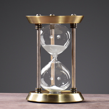 Metal decorative sand timer hourglass/desktop sand clock