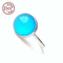 mood cabochon sterling silver mood ring color changing semi precious stone with silver ring wholesale