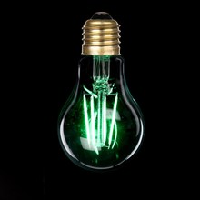 colored filament a60 led filament bulb 6w 6000k e26 base from Haining Suppliers