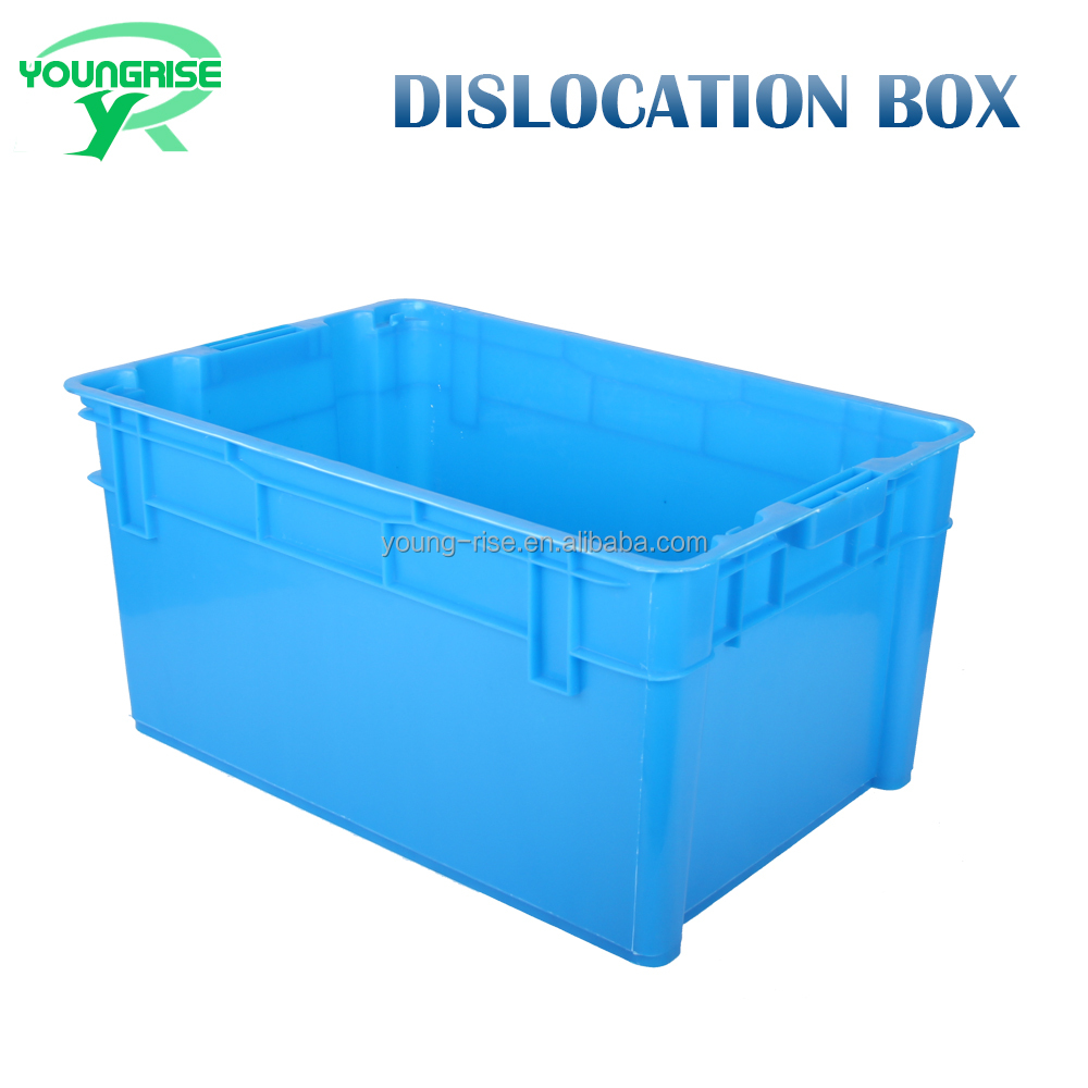 Promotional Solid Stackable Fruit Crate Moving Storage Container Plastic Logistic Box sale