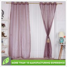 2016 new design Fashion Bedroom use pink voile polyester sheer curtain