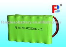 NI-MH rechargeable AA 2200mAh 7.2V batteries/battery pack with .UL, CE, ROHS certificated