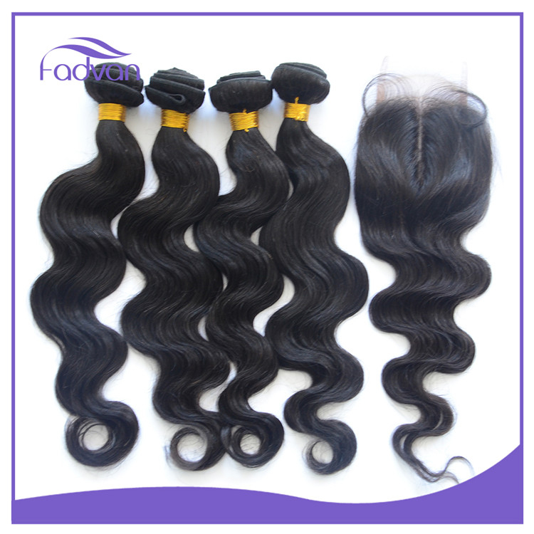 Hand made type virgin Brazilian hair top selling products in Alibaba body wave black color