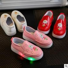 Trend children shoes casual design pu girls fashion cute kids flat fancy shoes