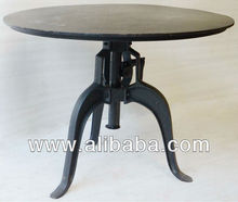 Iron Industrial Crank Table