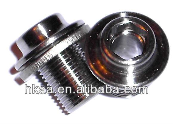 small stainless steel insert bolt, chainring bolt