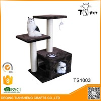 Simple Cheap New Design Modern Wooden Sisal Cat Tree House