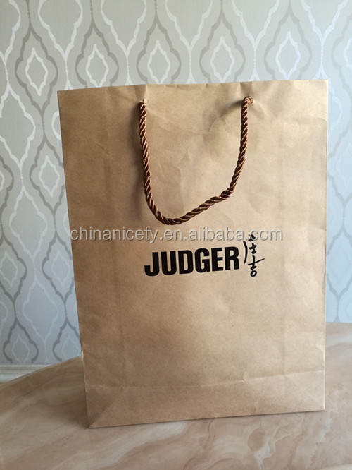 2016 new brown background recyclable paper bag