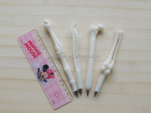 Student creative ballpoint pen human bones ballpen school office supplies home decoration kids gift