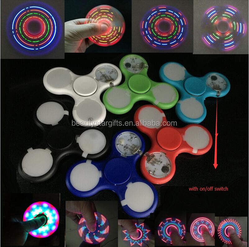 Stock High quality LED spinner fidget <strong>toy</strong> 32 different flash special designs figet spinner for children and adults China factory