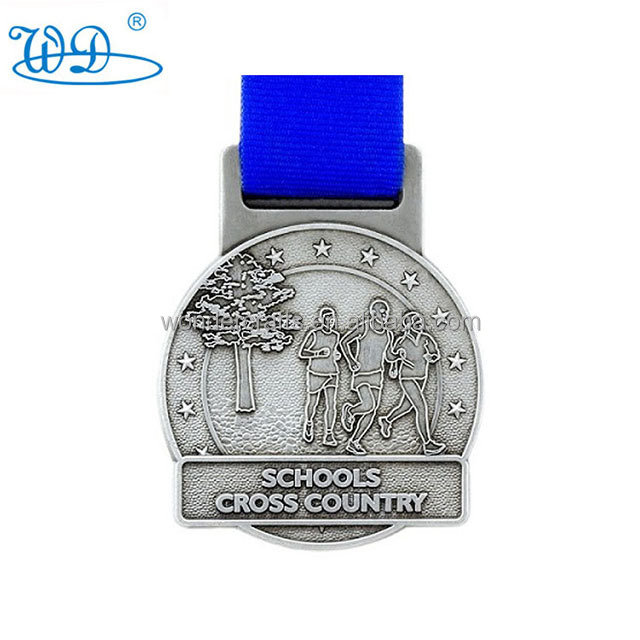 newest schcool cross country 1st award medal