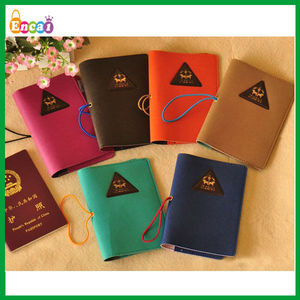 Encai Wholesale Mini Journey Organizer Passport Cover/Triangle Humming Passport Case/Stocked Tickets&Cards Holder