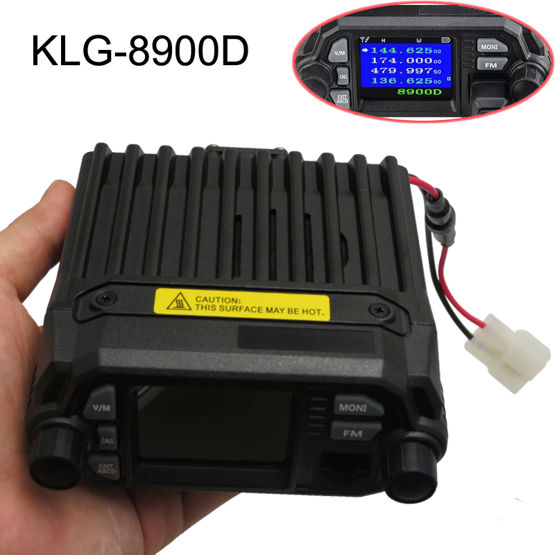 KLG-8900D color sreen 4 bands fm tramsceiver mini mobile vhf uhf 20 watt 2 way radio