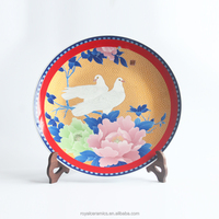 Welcomed in UAE luxury market gold painting and hand painted underglazed porcelain decorative plate