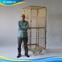rolling metal storage cage ,rolling cart,metal trolley