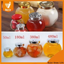DAILY GLASSWARE LOW MOQ Drum Shaped Glass jar Storage jar for Cracker or candy