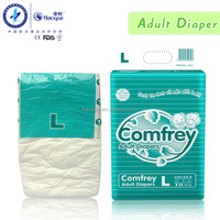 PE backsheet printed fluff pulp adult diapers with basf sap and Adl