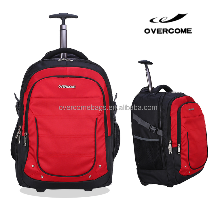 Waterproof trolley laptop backpacks travel luggage bag on wheel