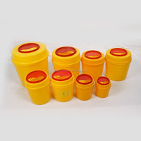 Round Sharps container medical disposable waste needle box