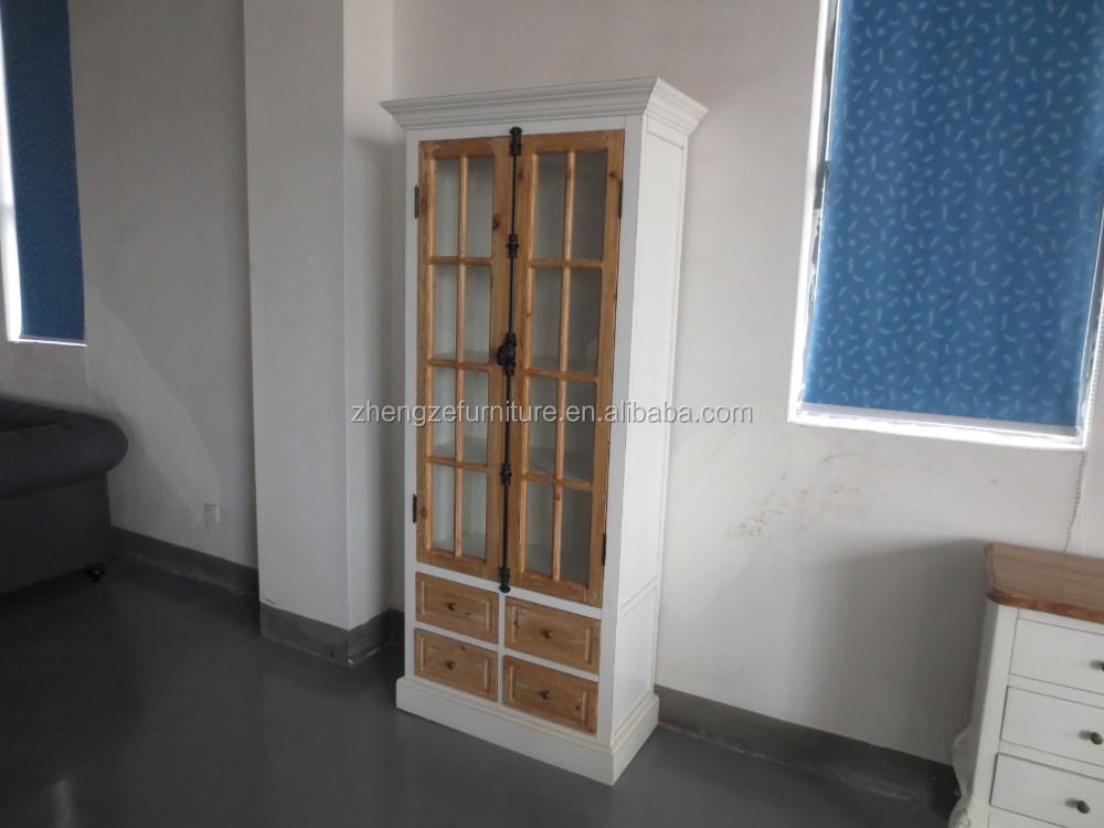 Antico in stile francese scuola/armadio vetrina dispensa della ...
