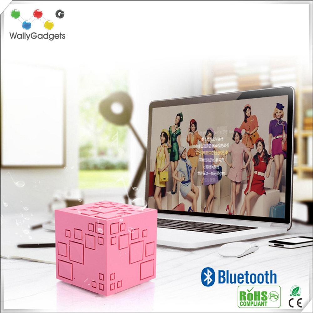 Magic Cube Style Smart Bluetooth Speakers Subwoofer Hands-free Phone Computer MP3 MP4 mini Speaker Support FM TF Card